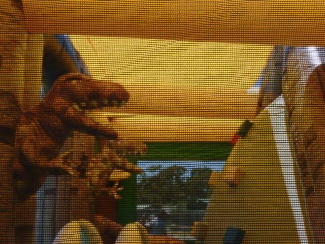 Jurassic dinosaur on the wall