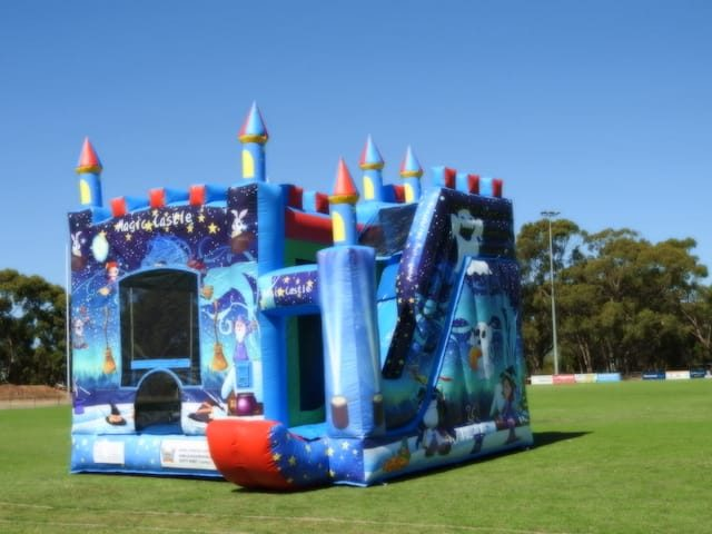 Magical jumping castle angle view
