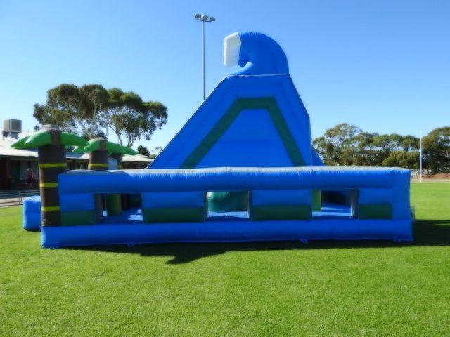obstacle water slide