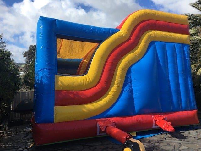 Round slide jumping castle