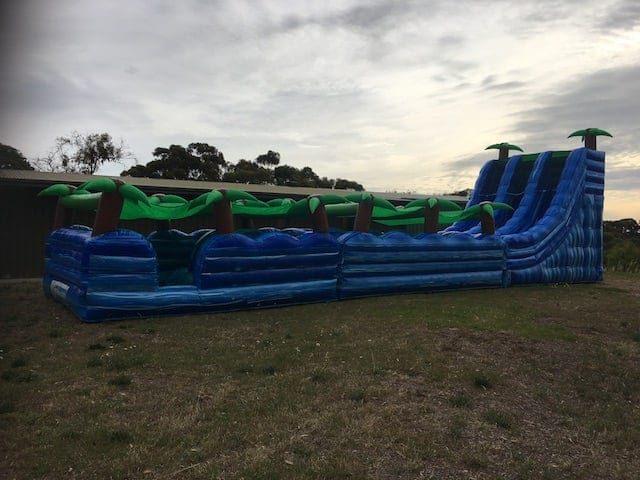 Tropical water slide