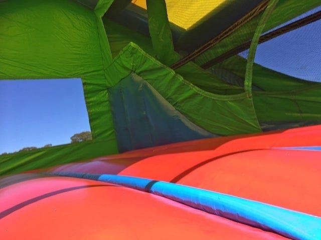 Inside jumping castle